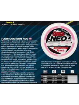 Momoi's Fluorocarbon Neo 25 mt Tubertini