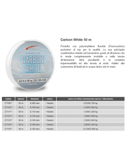 Carbon White Fluorocarbon 50mt Tubertini